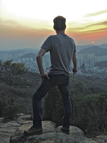 John the Farmer overlooking Seoul