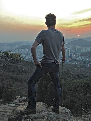 John the Farmer overlooking Seoul